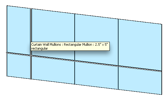 Mullions select similar to a normal revit object.