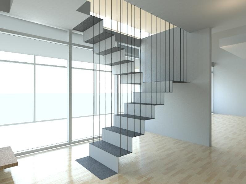 Cre8ivethings stairporn revit floating stairs for Free floating stairs