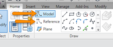 how to draw a line on joinery in revit